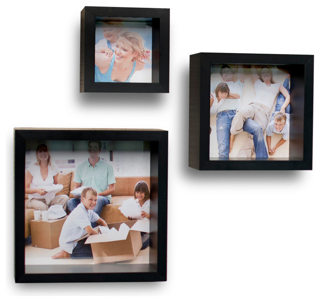 photo frame wall cube shelves set of 3 contemporary picture frames