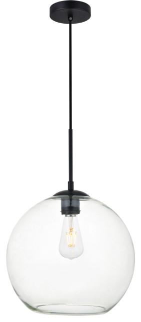 Huntington 1 Light Pendant in Black