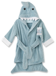 Let the Fin Begin Shark Robe, Blue