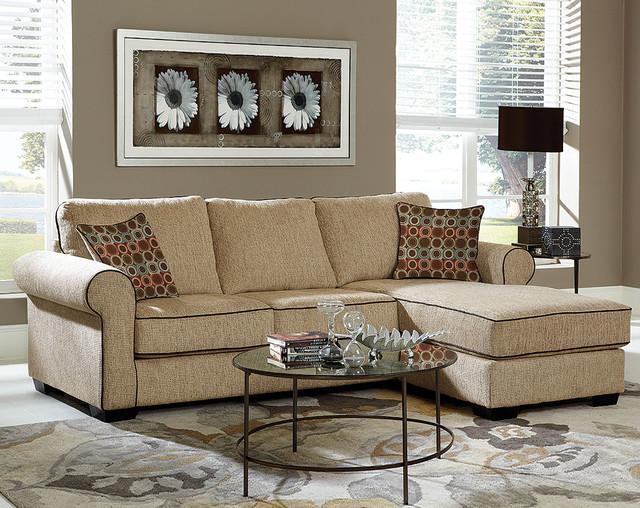 Pleasant Radar Sand Two Piece Sectional Sofa Traditional Living Spiritservingveterans Wood Chair Design Ideas Spiritservingveteransorg