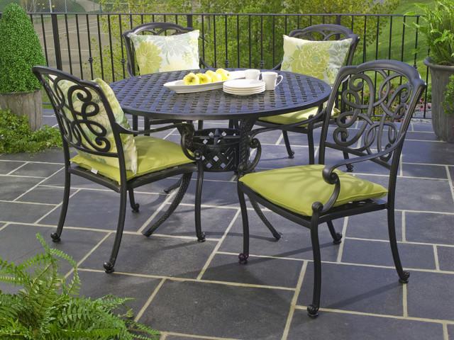 Genial Hauser Niagara Cast Aluminum Outdoor Dining Patio Furniture Traditional