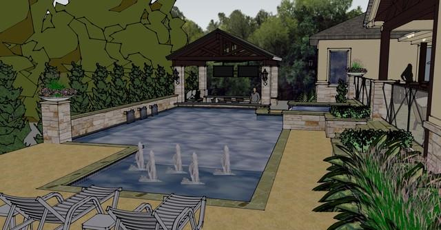 Backyard Retreat transitional