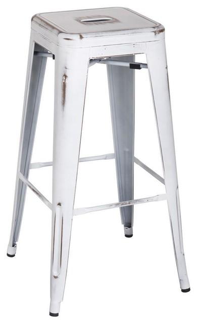 Phenomenal Jonas Metal Backless Bar Stool Distressed Aqua Set Of 4 Creativecarmelina Interior Chair Design Creativecarmelinacom