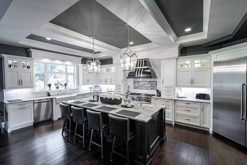 2 Toned Kitchen Craft Kitchen Traditional Vancouver By Sts Cabinets Granite Ltd