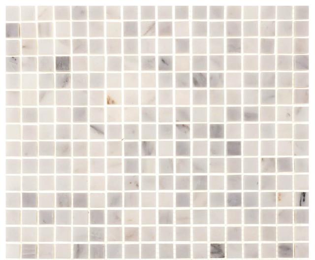 12 Quot X12 Quot Aspen White Marble Square Tile Contemporary