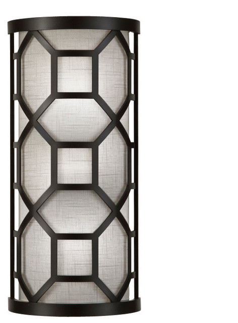Black and White Story Sconce - Transitional - Wall Sconces - by Fine Art Lamps
