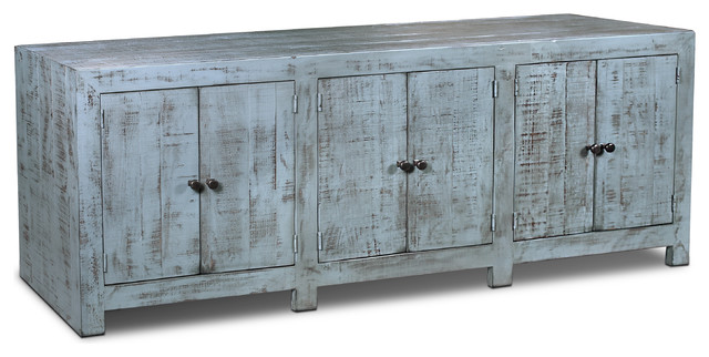 Rustic Farmhouse Style Solid Wood Macao Media Console 80
