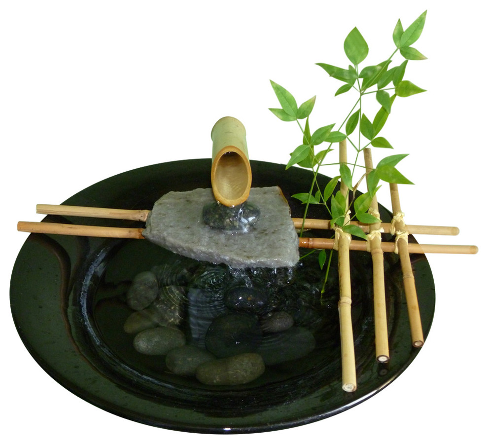 Nature Bowl Water Fountain Asian Indoor Fountains By Nayer Kazemi Water Art