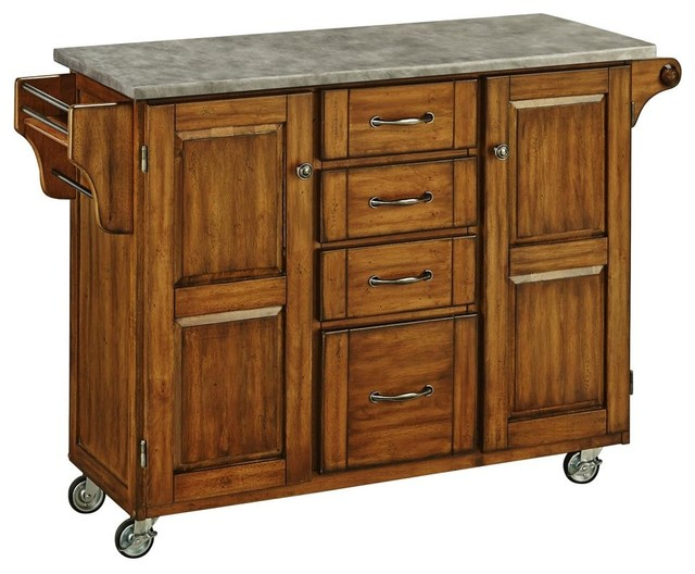 kitchen cart in oak kitchen islands and kitchen carts create a cart warm oak finish with cherry top