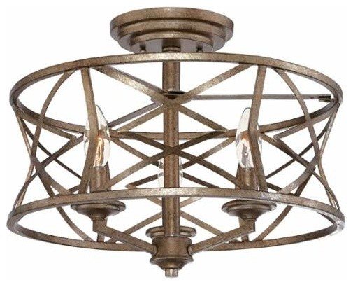 Millennium Lighting 2173 Lakewood 3 Light Semi-Flush Ceiling Fixture.