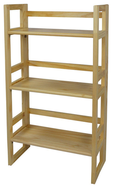 Yu Shan 3 Tier Folding Student Bookcase Transitional