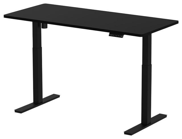 Clevr Electric Standup Desk, Single Motor, Adjustable, Black.
