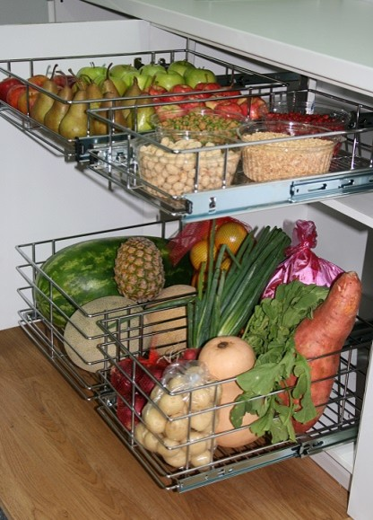 Fruit and vegetable storage ideas modern kitchen