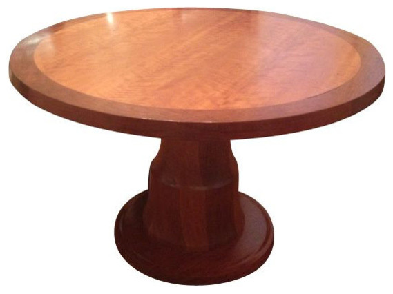 48 Round Solid TwoTone Wood Table