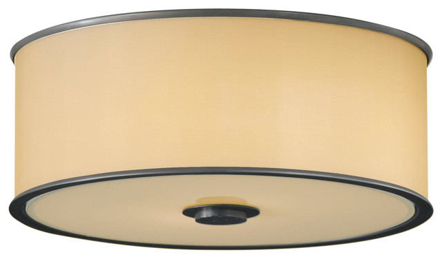 Feiss Fm291dbz Casual Luxury Dark Bronze Flush Mount.