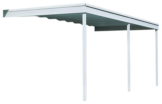 Attached Patio Cover/carport, Eggshell, 10&x27;x20&x27;.