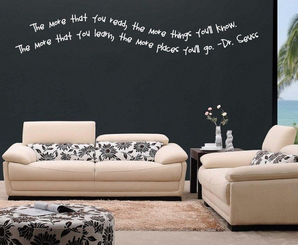 Superior The More You Read Vinyl Wall Decal C010, White, 6 In.