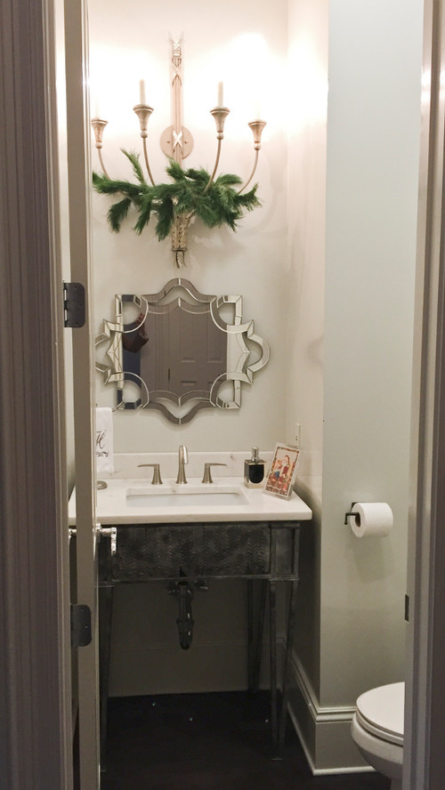 Mirror Makeover! New Orleans Powder Room Before U0026 After