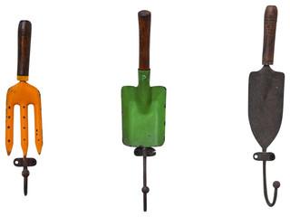 Garden Tool Wall Hooks Set Of 3 Rustic Outdoor Decor