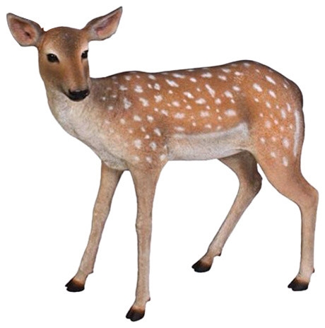 Design Toscano Spotted Deer Forest Fawn Sculpture View