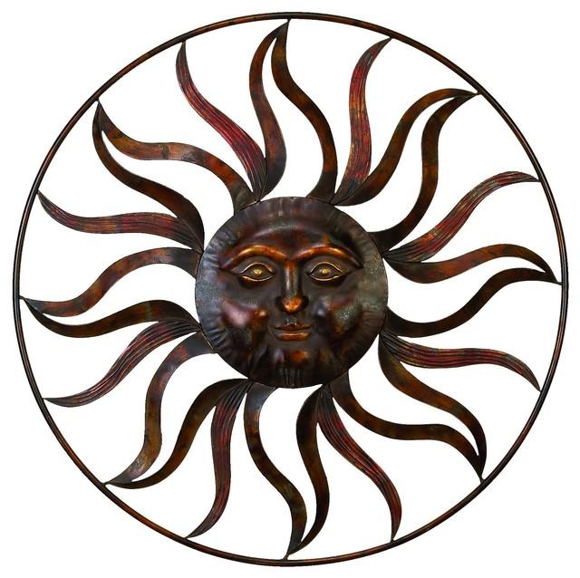 Metal Sun Wall Art Cool Metal Sun Wall Decor Feel The Warmth Of Sun  Rustic  Metal Wall Decorating Design