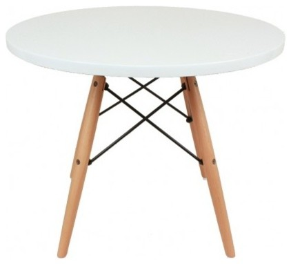 the agnes table white and wood
