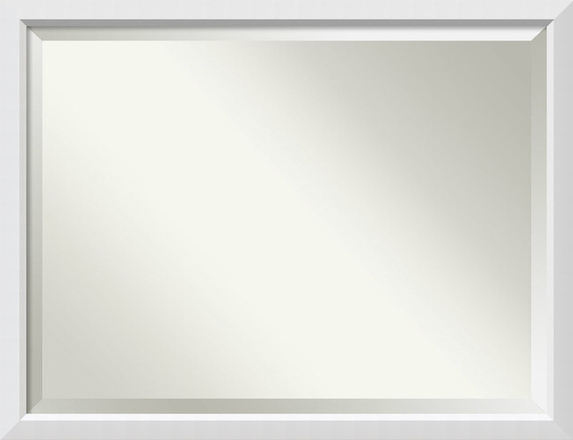 "Bathroom Mirror Oversize Large, Blanco White: Outer Size 43 X 33""."