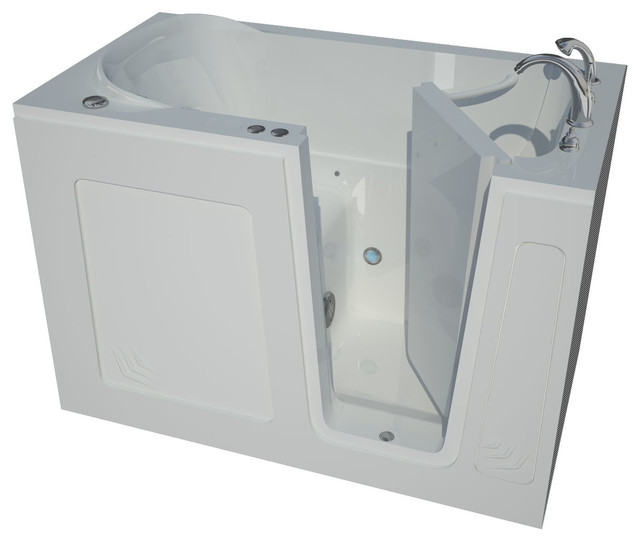 30 X 54 Air Jetted Walk-In Bathtub, Right Drain Configuration.