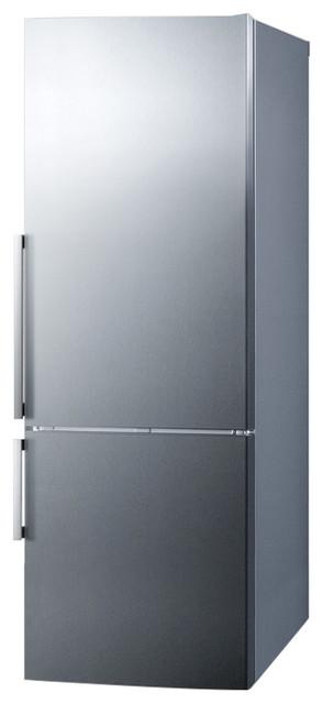 Summit 28 Energy Star Bottom Freezer Refrigerator With 16.4 Cu. Ft. Capacity.