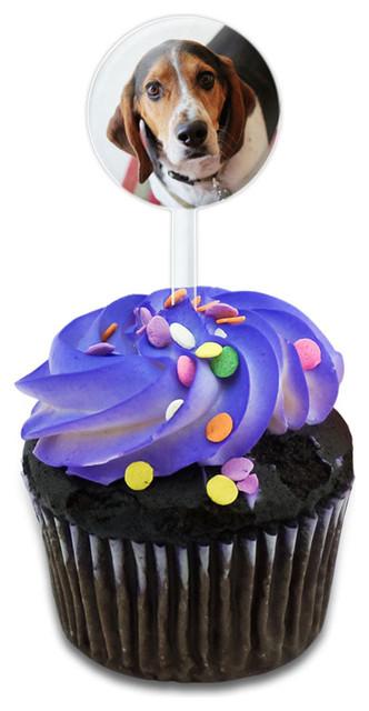 Cute Beagle Cupcake Toppers Picks Set.