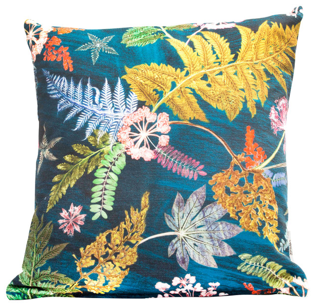 Now That's Something Teal Floral Scatter Cushion, 45x45 cm