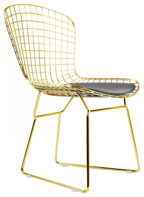 wire dining chair rose gold - contemporary - dining chairs - by