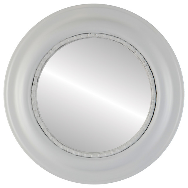 Shop houzz the oval and round mirror store chicago for White round wall mirror