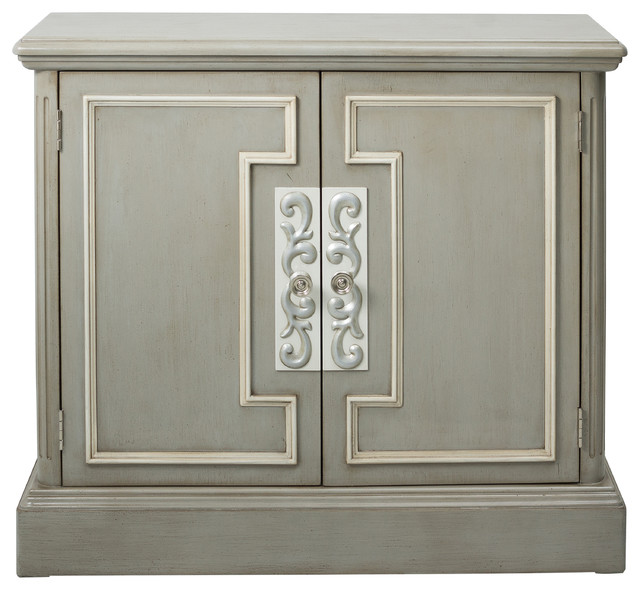 Taft Chest With White Overlay - Traditional - Accent Chests And Cabinets - by HomeFare