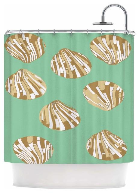 Rosie Brown Scallop Shells Shower Curtain