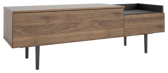 Unit 2 drawer sideboard white and walnut scandinavian - Tvilum sideboard ...