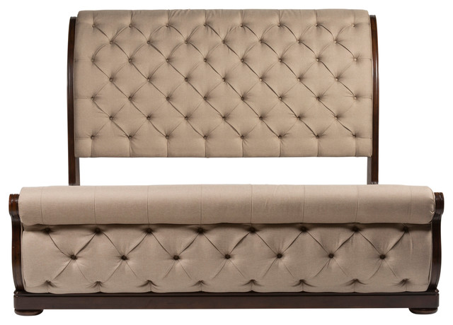 Rudolpho Sleigh Bed, King.
