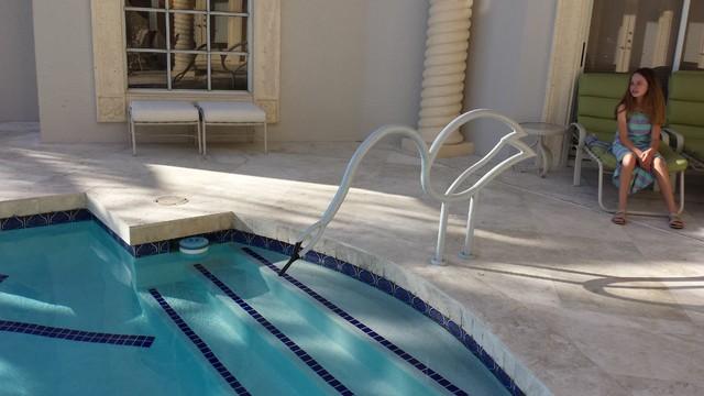 Swan Swimming Pool Handrail - Tropical - Pool - Miami - by ...