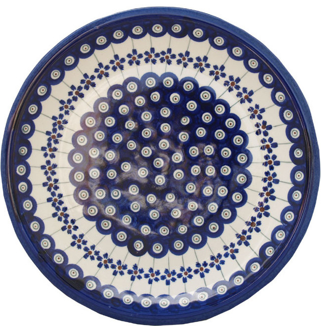 Polish Pottery Dinner Plate, Pattern Number: 166a Farmhouse Dinner Plates