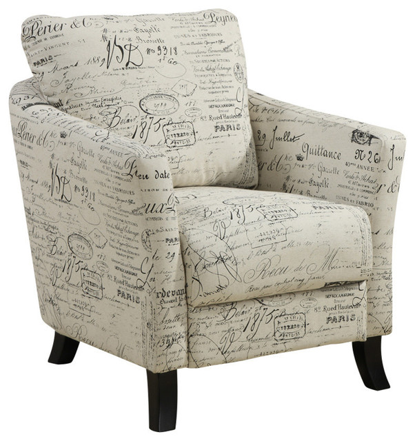 Monarch Specialties Accent Chair, Vintage French Fabric