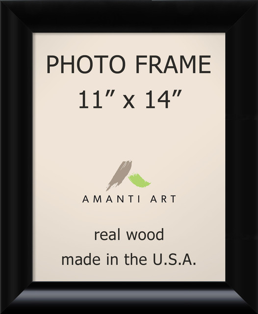 Picture Photo Frame 11 X14 Steinway Black Outer Size 14 X17