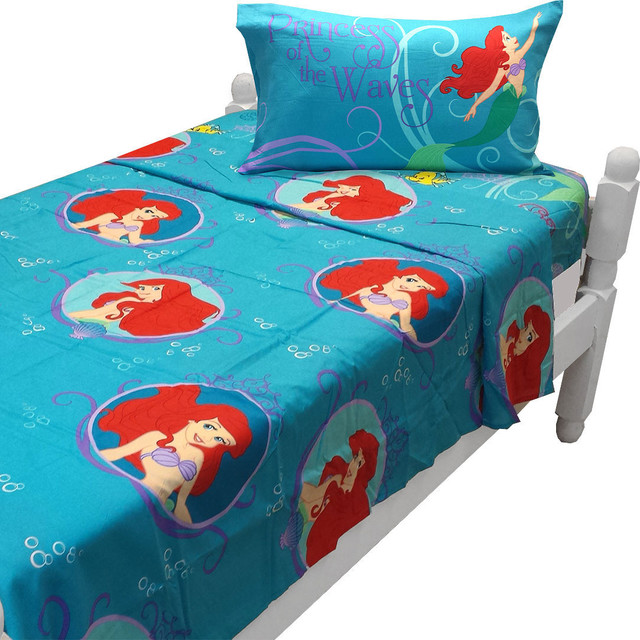 Little Mermaid Twin Sheet Set Princess Waves Bedding  The Little Mermaid  Bedroom Set. Little Mermaid Bedroom Set