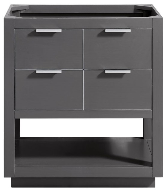 Avanity Allie 30 Vanity Only, Twilight Gray With Silver Trim.