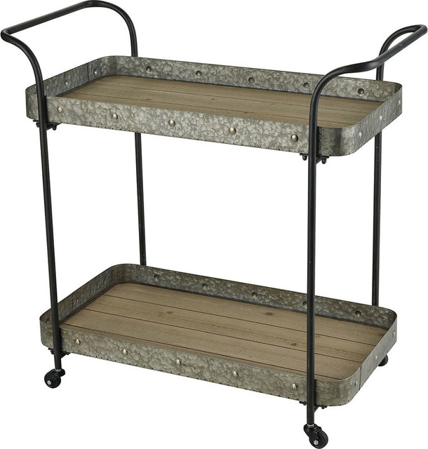 Pomeroy Homefront Wood and Metal Cart, Brown and Black by ELK Group International