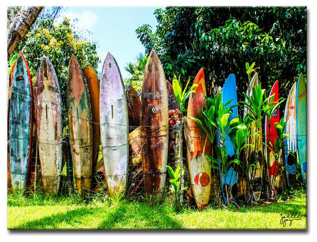 "Surfboard Fence&x27; Canvas Art Print, 20""x30""."