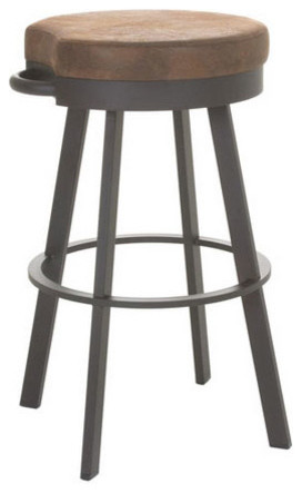 Backless Swivel Stool Industrial Bar Stools And
