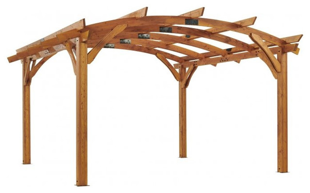 Outdoor Greatroom 16&x27;x16&x27; Redwood Sonoma Wood Pergola Kit.