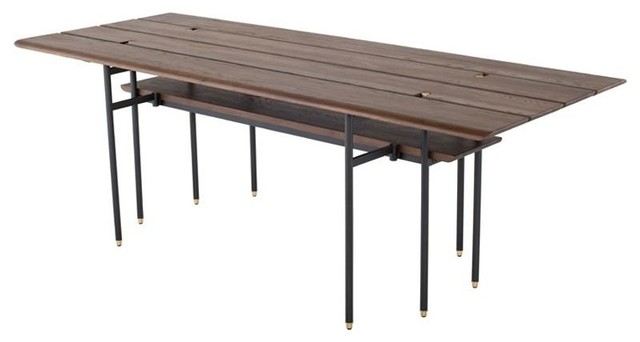 STACKING DROP LEAF DINING TABLE - SMOKED