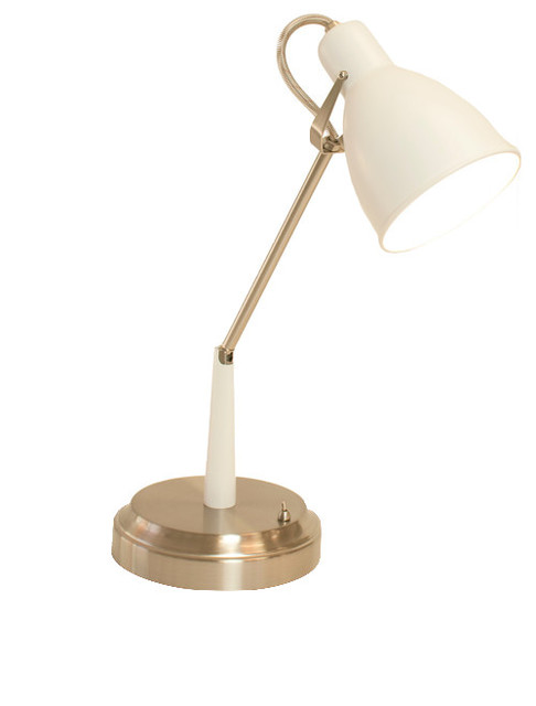 Oscar Cordless Task Lamp White Nickel Rechargeable Battery Operated Contemporary Desk Lamps By Modern Lantern