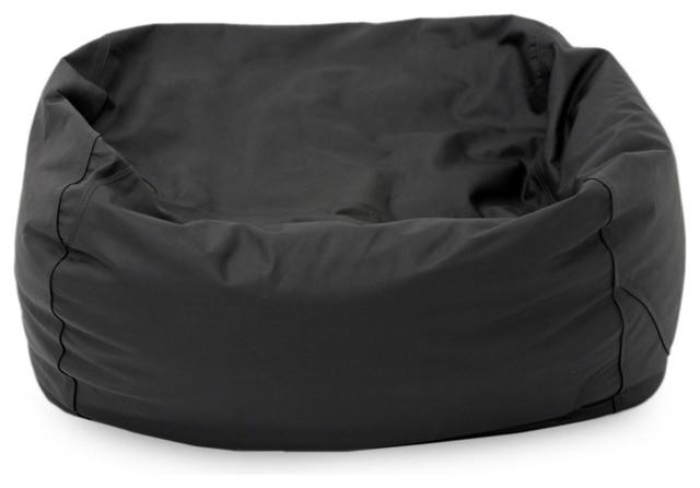 Black Classic Double Bean Bag Chair